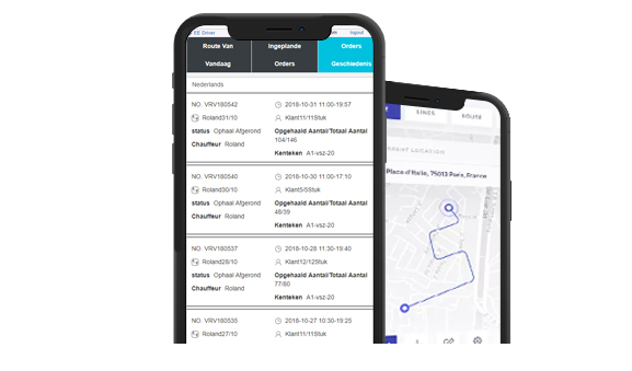 Pickup Route Planning on Smartphone